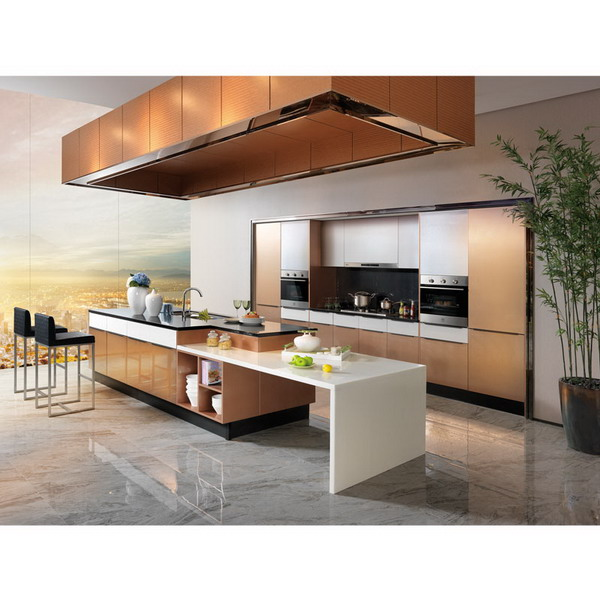 American Project Metal Foil Kitchen Cabinet Wooden Cabinets ...