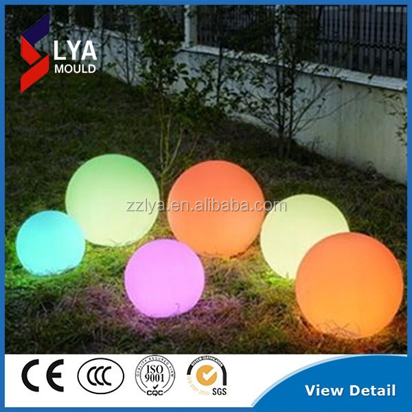 PE material garden used color changing mood led light ball
