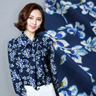 Popular 120D floral pattern crepe spun rayon 100% printed viscose fabric for dress