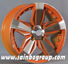 Racing car alloy wheels 14 inch with four finished