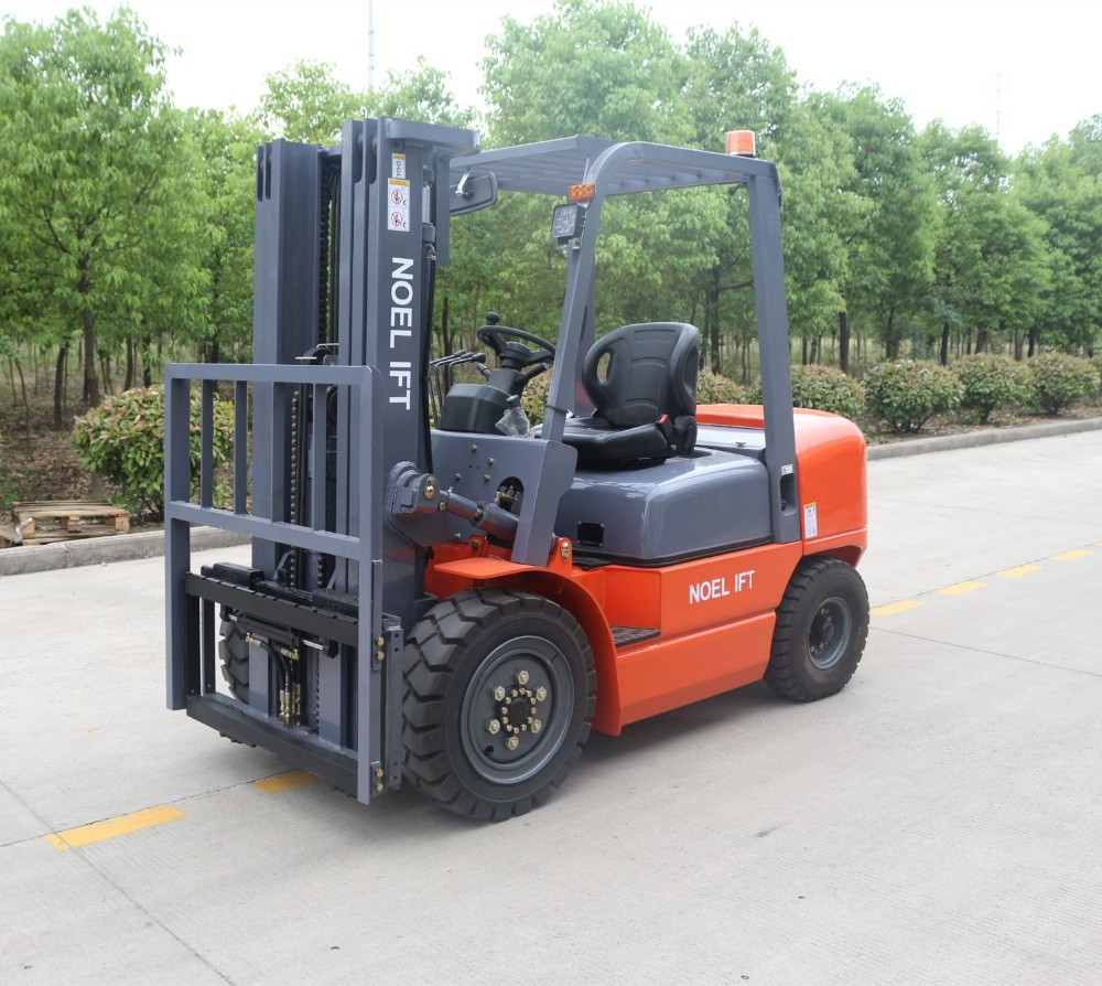 Mechanical Brake Semic Electric Paper Roll Handling: Forklift Rotating Forks 3t Forklift With Attachment Paper