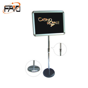 Portable floor standing telescopic pole sign board stand holder