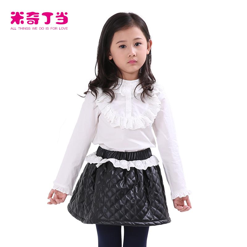 c333452705646 Guangzhou vêtements pour enfants robe pour fille 2 pièces chemise blanche et  jupe en dentelle à