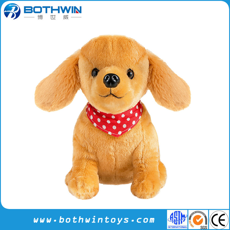 Soft Puppy Plush Golden Retriever Cuddly Dog Toy