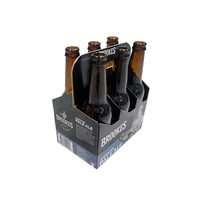 330-750ml HARD DUTY 6 BOTTLES CORRUGATED PAPER CARRIER WITH CUSTOM DESIGN ON SALE