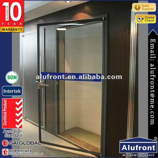 high quality As2047 standard good thermal broken double used office glass hinged doors with frames