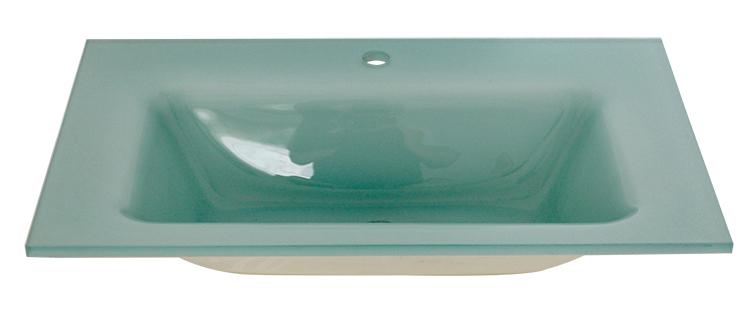 Buy Intelligent Light Green Color Glass Undermount Vanity Sink, Wash Basin  Price In Bangladesh
