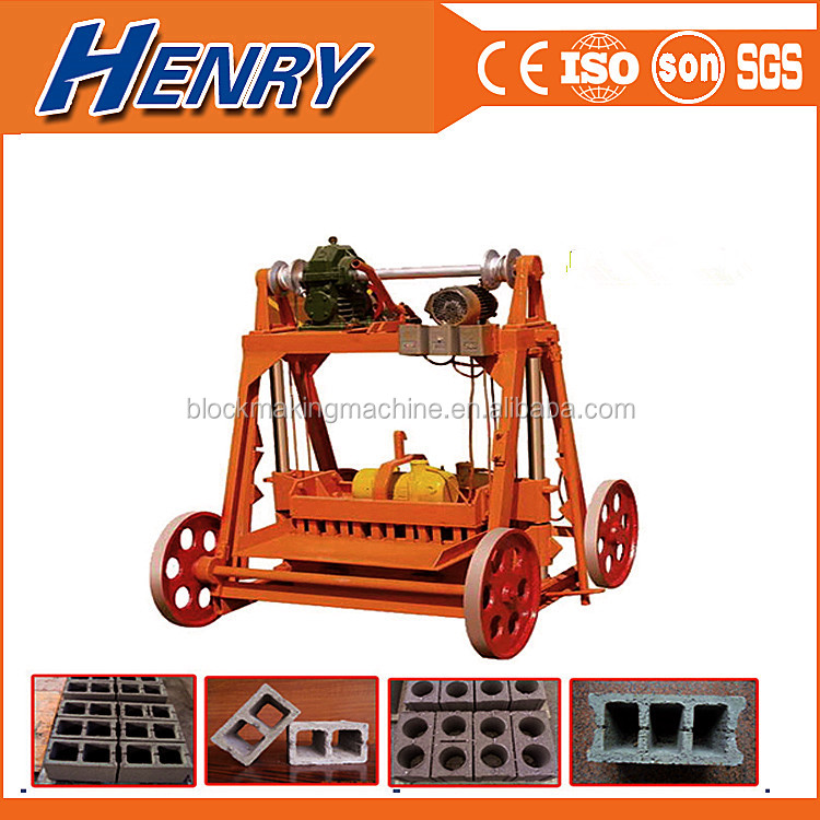 QMY4-45 egg laying mobile concrete block making machine/brick laying machines list scale industries
