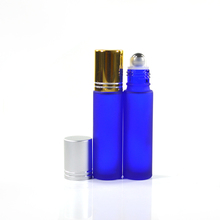travel attar perfume 10ml cobalt blue glass roll-on ball bottles