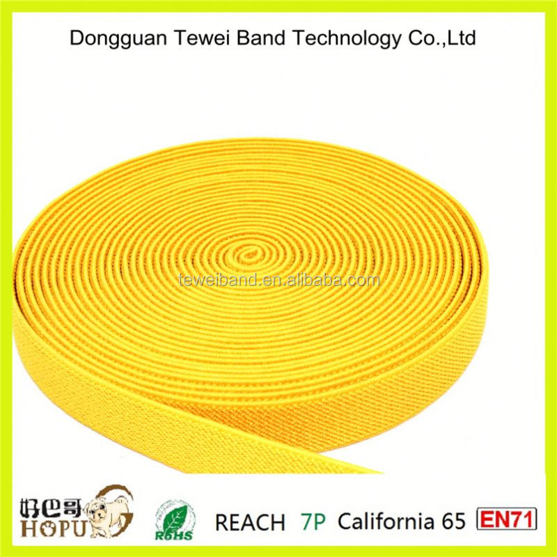 Bright yellow elastic band for football training shorts