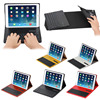 Soft Crazy horse leather case bluetooth keyboard for iPad Air 2,for iPad Air 2 leather case bluetooth keyboard