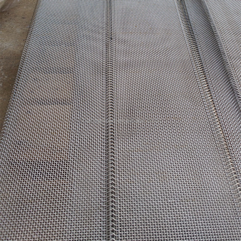 Stainless Steel Crimped Wire <strong>Mesh</strong> With Loop Edge for Conveyor Belt <strong>mesh</strong> Panel