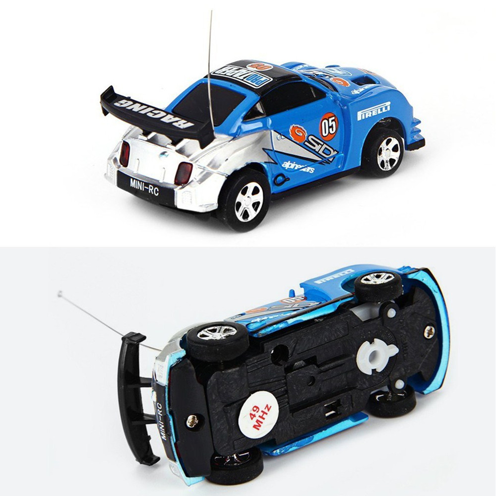 Baby Toys 1:63 Mini Coke Can Mini RC Car Electric Toys Crro Speed Truck Radio Remote Control Micro Racing Vehicle Toy Gift For C