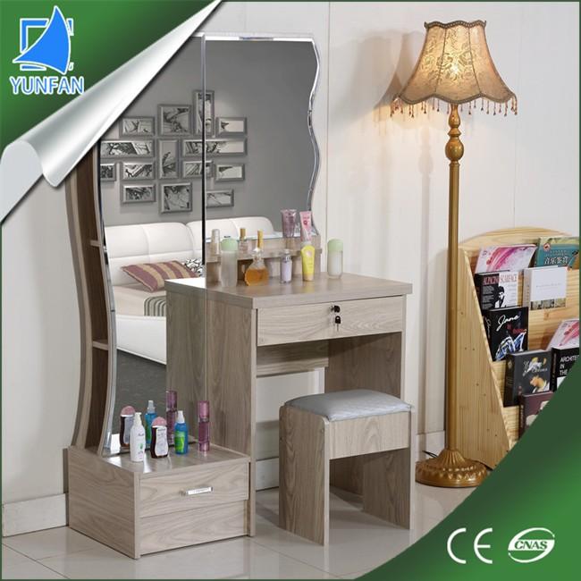 madera de pino estilo esquina dormitorio moderno tocador con espejo