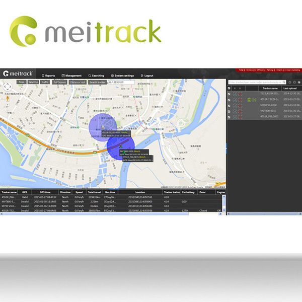 Meitrack daily timesheet template gps tracking software for gps tracker with google Maps Customization accepted MS03