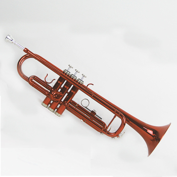 Trumpet B Flat Plastic Trumpet with Mouthpiece for Band School Student (Red)