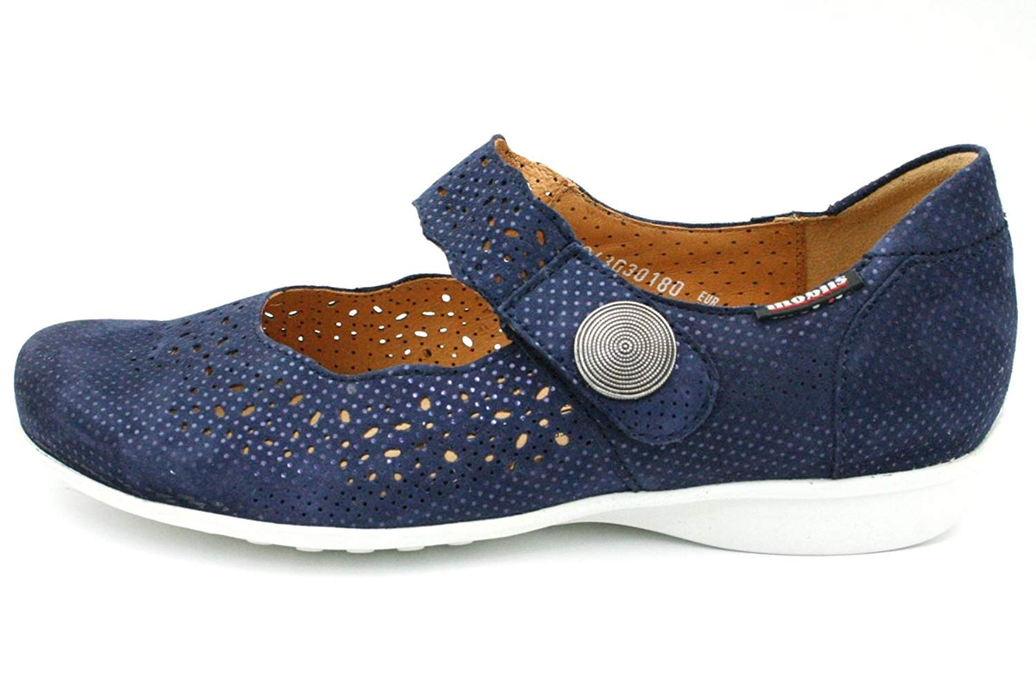 dfe5884ffbc Get Quotations · Mephisto Mobils by Fabienne Silencio Navy Blue Nubuck Wide  fit Women Shoes