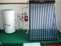 Split Pressurized Heat Pipe Solar Water Heating Systems