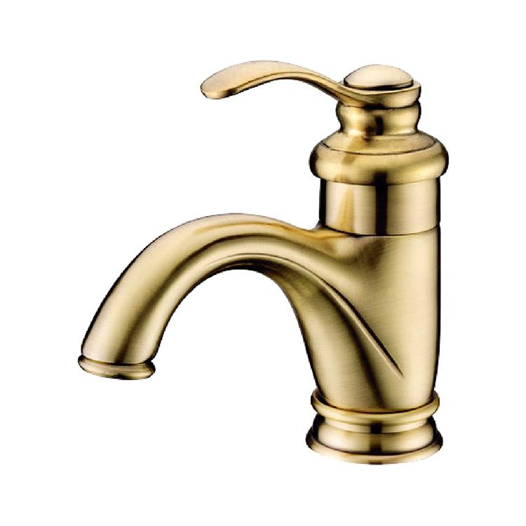 Solid Brass Single Handle Bathroom Faucet Cheap Sink Mixer Taps