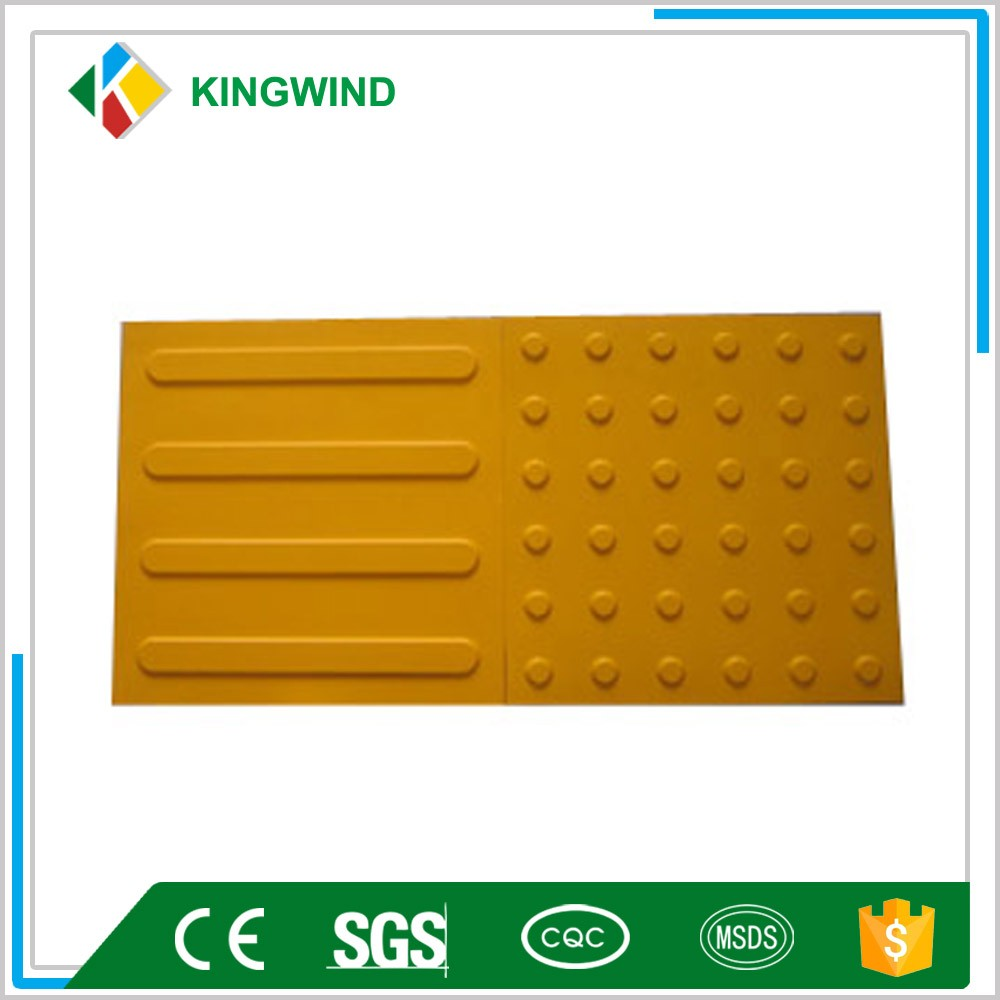 Rubber Warning Blind Tactile flooring Paver Tiles