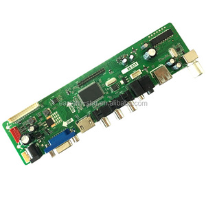 smart universal lcd led tv main board with USB VAG HDMI, led tv spare parts