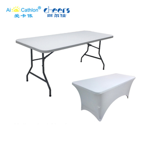 Outdoor Heavy Duty 6ft Foldable Trestle Table Garden Party 1.8m Catering Plastic Folding Tables for Parties