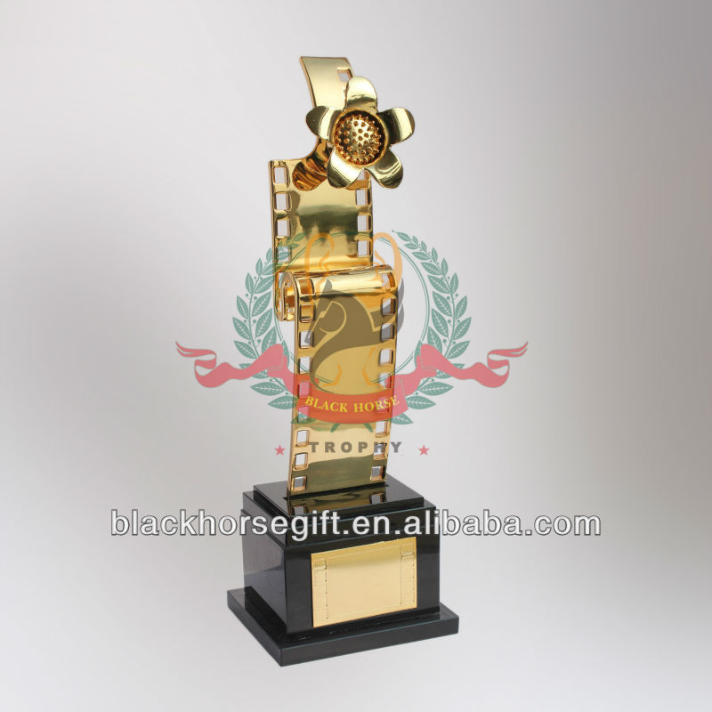 New Hot Creative Metal Film And Music Flower Trophies And Awards