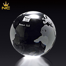 Laser Engraved Glass Balls Unique Map Crystal World Globe With Map For Centerpieces