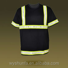 Safety Polo shirt with stretchable elastic reflective tapes