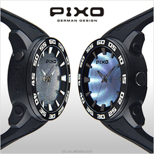 PX-8 New Product Low MOQ branded dateplastic case 2017 new design quartz watch for teenager