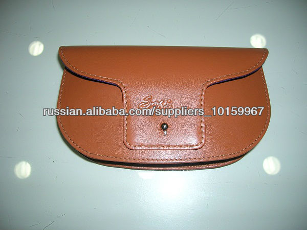 ADASGC - 0009 soft leather eyeglass case/ leather eyeglass case