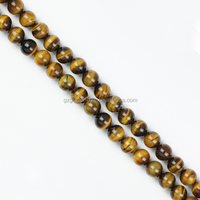 European wholesale A grade semi precious round beads yellow tiger eye stone beads
