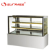 Countertop displays chiller flat glass refrigerator showcase