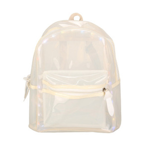 TCZ217B New Design Waterproof LED Transparent PVC Backpack for Summer