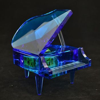 Crystal Music Box With High End Crystal Wedding Favors Music Box