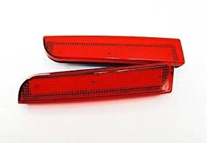 LEDIN Mitsubishi Lancer Evo X Red Lens Bumper Reflector LED Tail Brake Stop Light CZ4A
