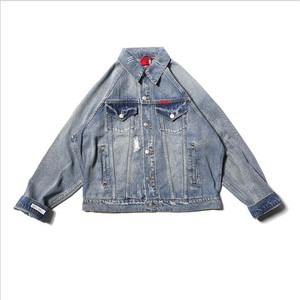 Fashion High Quality Cowboy Men's Jean Jacket Chaqueta Hombre