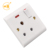 Electrical round 3pin 15amp switch sockets outlet with neon