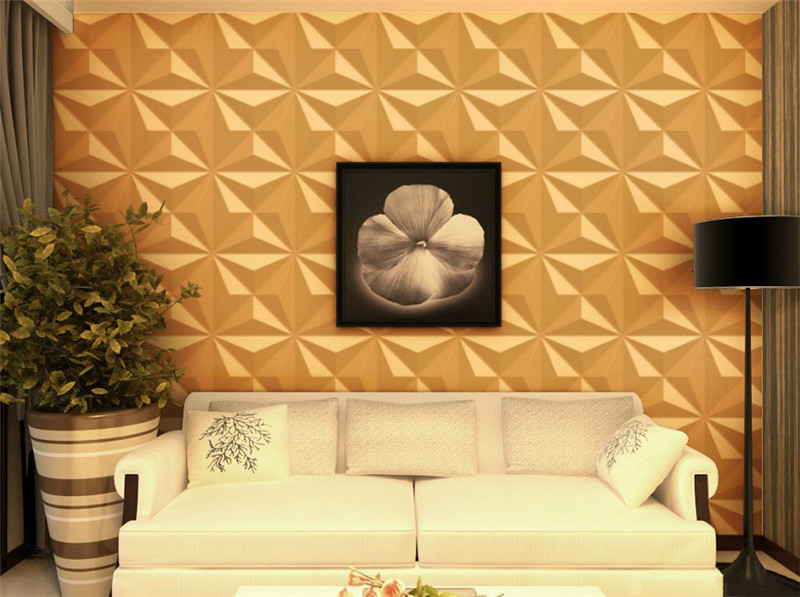 PVC gold decorative panels colored interior 3d wall panels