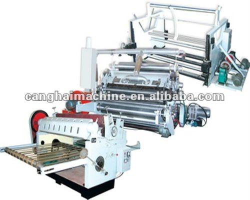 vacuum sucked Fingerless Single Facer Corrugated Machine