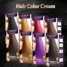 Permanent Lovely Ammonia Free Hair Color Cream with Hair Chart