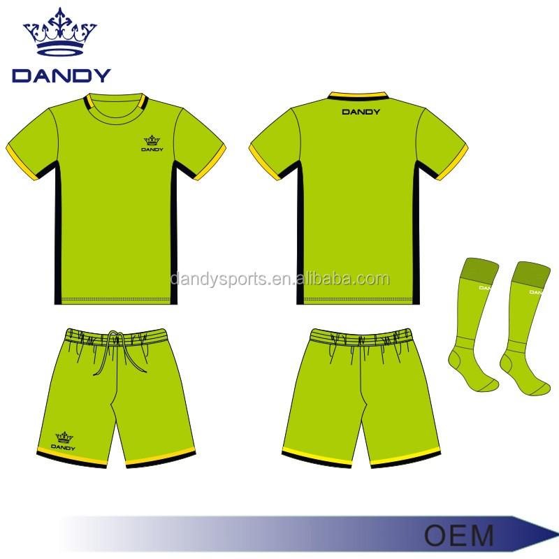 4cbb698ffd8f3 OEM diseño su propio jersey de fútbol fútbol juvenil uniforme estilos Dry  fit camisetas deportivas