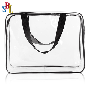 Fashion Transparent Pvc Cosmetic Bag Wholesale Clear Travel Toiletry Bag