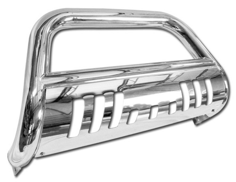 Topline Autopart Stainless Steel Chrome HD Heavyduty Bull Bar Brush Push Front Bumper Grill Grille Guard V2 w// Skin Plate 08-10 Ford F250 F350 F450 F550 Superduty