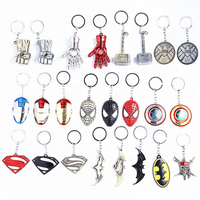 Factory sell Spiderman,Iron Man Mask,Captain America, Hulk Fist,Venom, Deadpool, Civil War Marvel Avengers Keychain