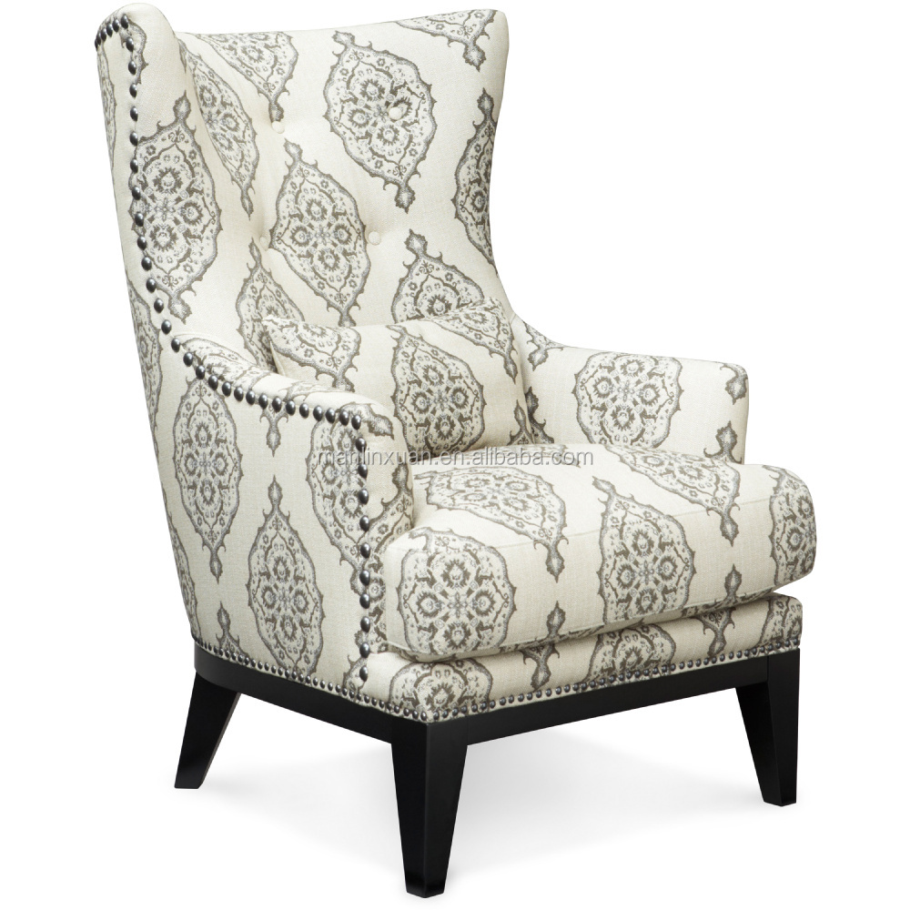 Modern Style Hotel Living Room Single Sofa Chairwith Metal On Xyn1548