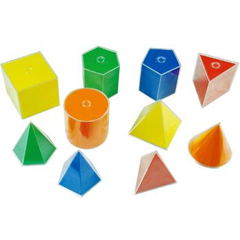 10cm 10pcs Colorful Plastic 3d Geometric Shape Solid - Buy Colorful Plastic  3d Geometric Shape Solid,Geometric Shape Solid,Plastic 3d Geometric Shape