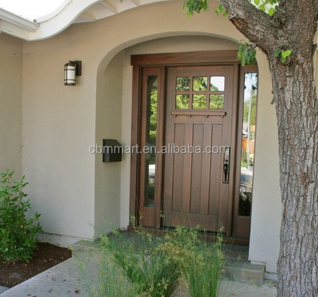 New design elegant modern front entry door solid wood main - Puertas acristaladas exterior ...