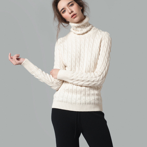 2018 wholesale fashion custom wool women high neck winter sweaters