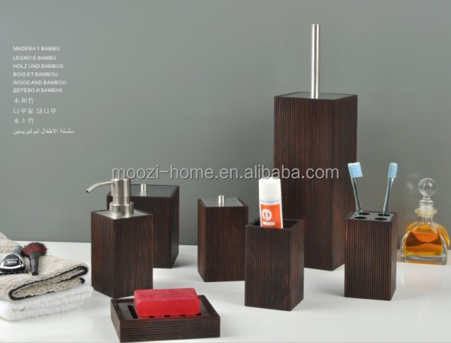 Bathroom Accessories Bamboo bathroom accessories sets on bamboo bath accessory set,home